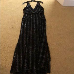 Parker Black long formal sequin black dress